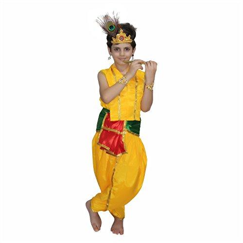 KAKU FANCY DRESSES Bal Krishna Costume Krishnaleela/Janmashtami/Kanha/Mythological Character for School Annual Function/Theme Party/Competition