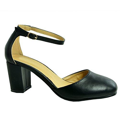 Cucu Fashion , Sandales Compensées femme Noir