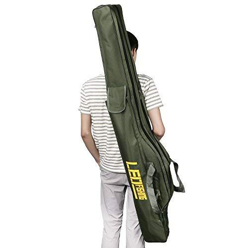 Angelrute Tasche faltbar Wasserdicht Angeln Werkzeuge Storage Bag Case doppelten Großer Kapazität Reise Halter Angeln Gear Organizer