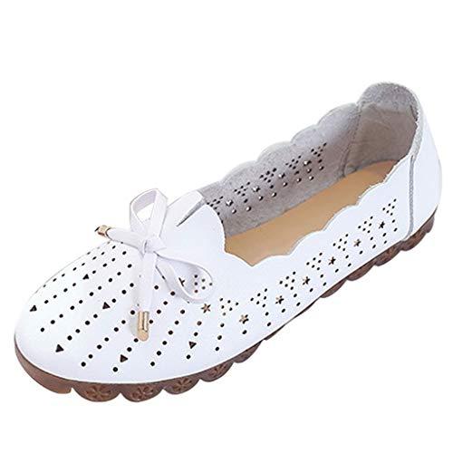 LILIGOD Damen Freizeit Einzelne Schuhe Damenmode Sommer Sandalen Weichen Boden Strand Schuhe Hohlen Casual Loch Schuhe Flache Baotou Sandalen Elegante Wilde Single Schuhe
