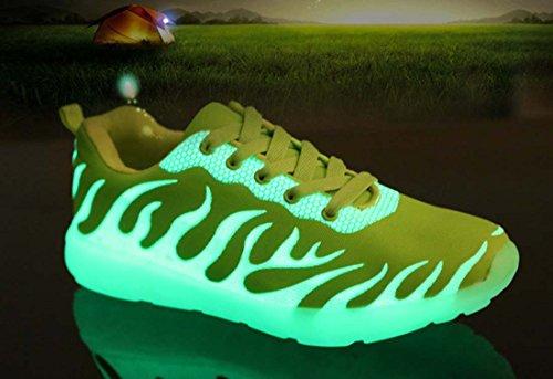 Scarpe Da Ginnastica Unisex Donna Uomo Scarpe Corsa Nocilucide Scarpe Jogging Low-top In Tela Green