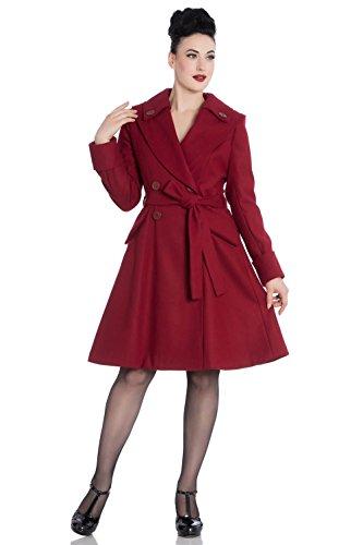 Hell Bunny Wintermantel OLGA Coat 8054 Rot L