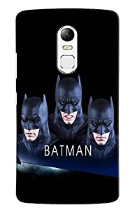 Omnam Batman Face Effect Printed Designer Back Case For Lenovo Vibe X3