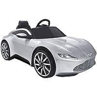 Feber-800010160 Aston Martin 6V con Luces y Sonido, Color Plata (Famosa 800010160)