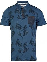 3d648999 Mens D Code 1X3409 pique polo shirt short sleeve t-shirt top with print  detail