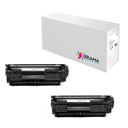 2 X Tóner Compatible Hp Q2612A XL- Q2612X (2500 copias) 500 COPIAS MAS !! HP Laserjet 1010 , 1012 , 1015 , 1018 , 1020 , 1022 , 1022n , 3015 , 3020 , 3030 , 3036 , 3050 , 3052 , 3055 , M1005 MFP , M1319 . BRAMA CARTUCHOS Empresa Española, Envíos desde Madrid (2)