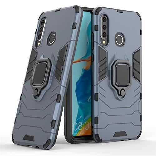 DESCHE für Huawei P30 Lite/Nova 4E hülle, Ringhalterung hülle + Bildschirmschutz, kompatibel mit magnetischer Autohalterung (Außer Auto-Magnetrahmen) - Navy