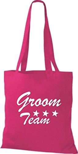 Shirtstown Stoffbeutel JGA Groom Team viele Farben pink