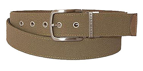 BOSS Ceinture unisex woven and leather reversible, grey 36