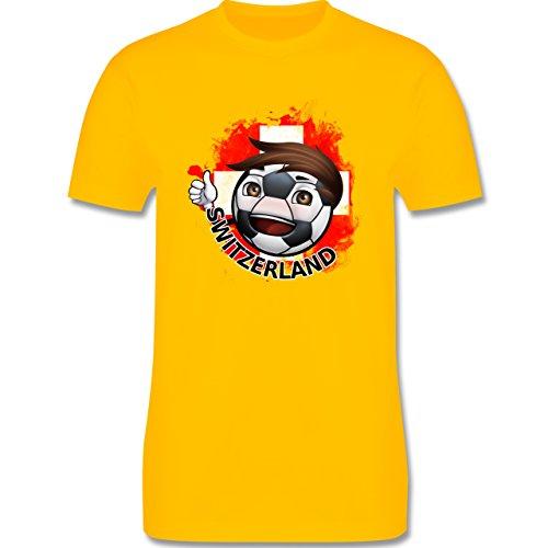 EM 2016 - Frankreich - Fußballjunge Schweiz - Herren Premium T-Shirt Gelb