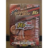 Greg Biffle #16 3M Ford Fusion Car of Tomorrow COT 2008 1/64 Scale & Bonus 3M Diecut Magnet Sticker Winners Circle Edition by Winners Circle