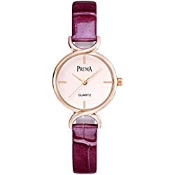 Fashion quartz Lady watch/ waterproof leather strap watch/Simple casual watches-A