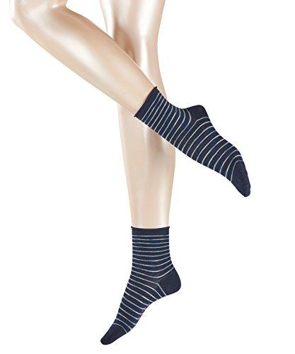 ESPRIT Damen Socken Coloured Gap, Blau (Marine 6120), 35-38