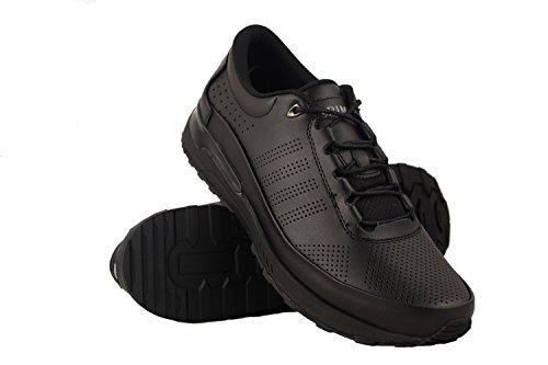Zerimar Scarpe da Golf da Uomo | Scarpe Sportive da Uomo | Calzature Sportive per Il Golf | Scarpa Sportiva da Uomo in Pelle | Scarpe Sportive Golf | Colore Nero Taglia 45