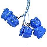 MINGZE 10 stücke Kreative Baby Kunststoff Zahn Aufbewahrungsbox, Milchzähne Box Zahnbox Zahndose Milchzahndose Zahndöschen, Baby Zähne Speichern Boxen, Niedlichen Baby Kind Zahn Andenken Halter Veranstalter (Blau)