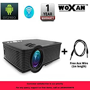 """Woxan i9 LED HD Android WiFi Projector - HD 1920 X 1080 – 120"""" Display"""