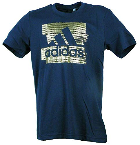 Adidas mh bos foil t, t-shirt uomo, legend ink, m