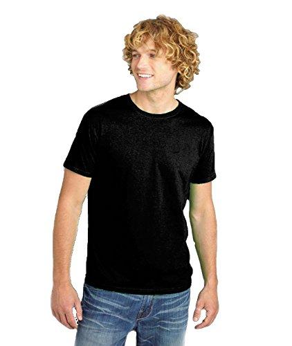 Fruit Of The Loom Maglietta Uomo Manica Corta 100% Cotone T Shirt Maniche Corte, Colore: Nero, Taglia: M