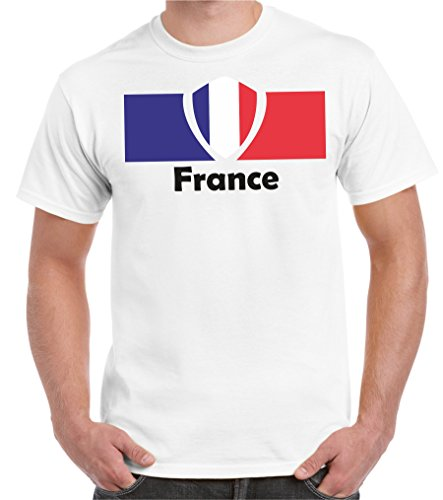 2Store24 Copa del Mundo 2018 Camiseta Hombre Bandera de Francia Talla S - 5XL De Gran Tamaño