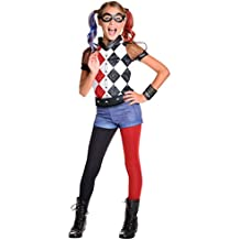 Generique Disfraz Lujo Harley Quinn Niña - Superhero Girls 8-10 Años ... f4c11e2b876d