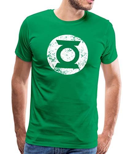 Spreadshirt DC Comics Justice League Green Lantern Logo Männer Premium T-Shirt, 3XL, Kelly Green -