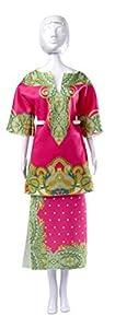 MaRécréation-Dress Your Doll Rani Pink Coser Traje muñeca maniquí, lv-995t-fh39