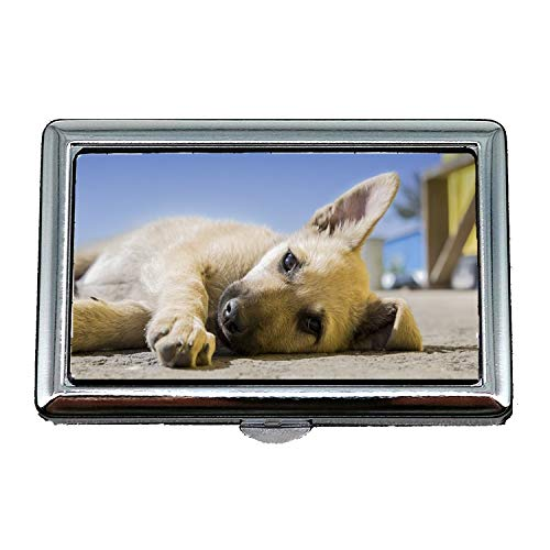 Zigarettenetui/Box, Hund Welpe Haustier Animal Cute Canine Entzückende Doggy, Visitenkartenetui Visitenkartenetui Edelstahl