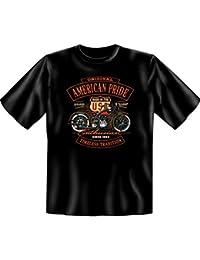 Schwarz Blechschild Funshirt Biker Coole Opas Lustiges T-Shirt