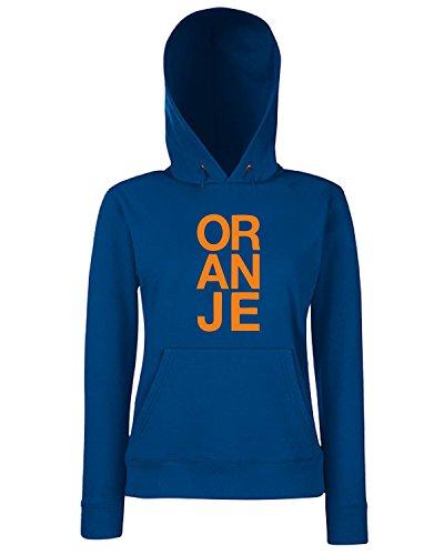 T-Shirtshock - Sweats a capuche Femme WC0096 OLANDA HOLLAND NEDERLAND Bleu Navy