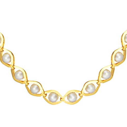 Shining Jewel 24K Gold Link Chain For Women