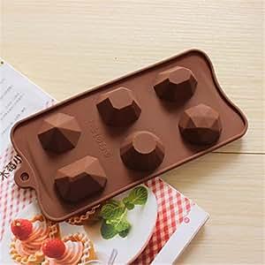 MOCHA créatif ustensiles de cuisson en forme de losange de silicone moules de cuisson pour le chocolat