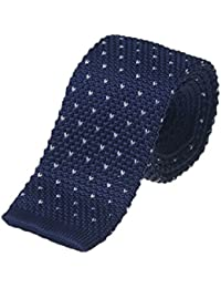 Knight - Premium Knitted Chevron Tie, Slim Tie, Flat Bottom Tie - Various Colours to Choose From
