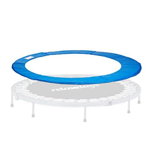 Relaxdays Trampolin Randabdeckung, Federabdeckung, Trampolin Zubehör, 30 cm breit, Randschutz, Durchmesser 427 cm, blau