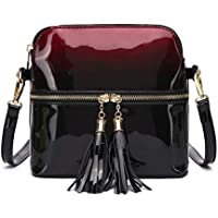 7b35c97391b LeahWard Women s Quality Faux Leather Cross Body Bags Tassel Shoulder Bag  Handbags For Holiday Party 1061