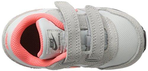 Nike Md Runner 2 (Tdv), Scarpe da Ginnastica Bambina Grigio (Pure Platinum / Lava Glow / Cool Grey / White)