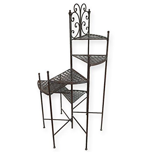 PrimoLiving Escalier de plantation de style ancien en p 329 Marron