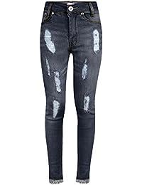 A2Z 4 Kids® Ragazze Elastico Jeans Bambini Strappato Denim Pantaloni Moda  Pantaloni Jeggings Età 5 02f19e7bf36