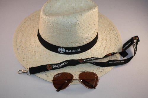 BACARDI PANAMA Summer Set Strohhut+Brille+Schlüsselband