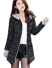 877c6c898f440b Bluelucon Winter Mantel Damen Winterjacke Daunenmantel Lange Daunenjacke  Outwear Frauen Winter Warm Einfarbig Lässig Dicker Wintermantel