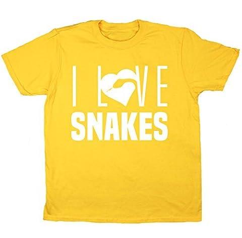 HippoWarehouse I Love Snakes kids short sleeve
