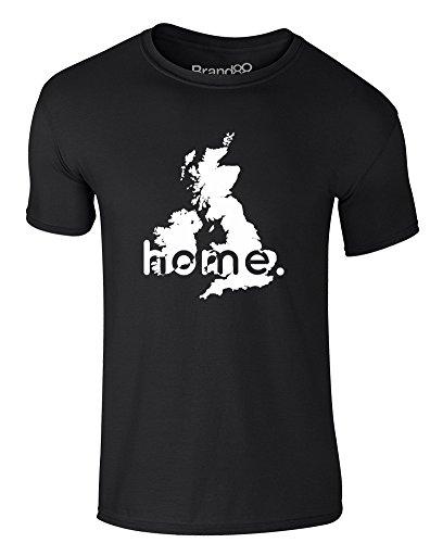Brand88 - Home: UK, Erwachsene Gedrucktes T-Shirt Schwarz/Weiß