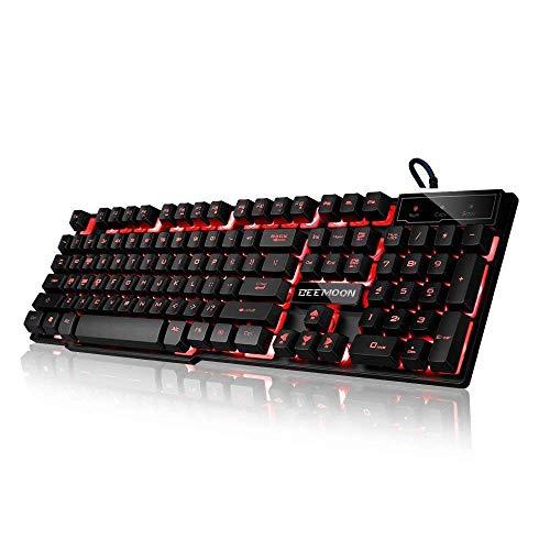 Beemoon Gaming-Tastatur mit Kabel und DREI Farben,