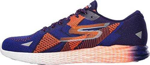 Skechers Mens Go Meb Razor Breathable Cushioned Track Running Shoes blau / orange