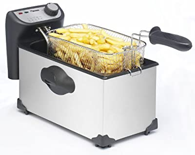 Bestron Funcooking Friteuse Inox 3,5 L pour 1 Kg Frites