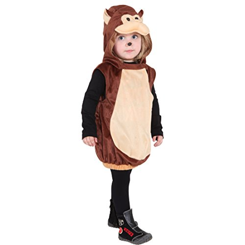 Kostüme Affen Niedlichen (Kinder Affenkostüm Äffchen Tierkostüm 104 cm 3-5 Jahre Affe Kinderkostüm Affen Kostüm Karnevalskostüme Tiere Süßes Faschingskostüm Karneval Tier)