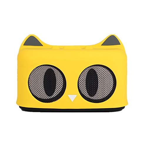 WHQ Haustier Katze Schöne Drahtlose Bluetooth Lautsprecher Nette Familie Spielzeug Cartoon Kitty Kinder Spiel,Gelb -