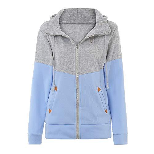 Yvelands Damen Sweatshirt Mantel Plus Größe Reißverschluss mit -