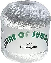 Shine of Summer - Sommergarn aus Viskose und Polyester in der Farbe Weiß - 50 Gramm Knäuel