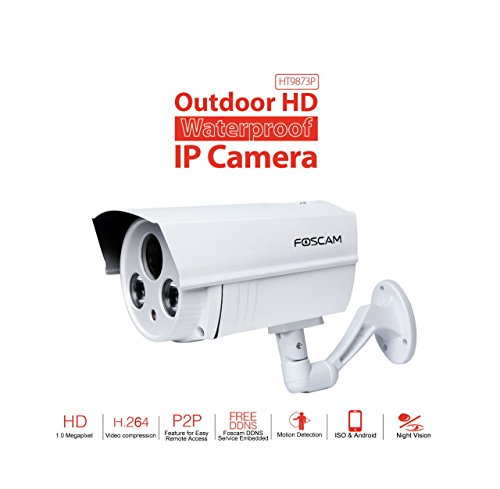 IFITech Foscam HT9873P Wired outdoor plug-n-play HD Camera - White