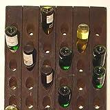 Weinregal für 60 Flaschen - Echtes Rüttelbrett aus der Champagne